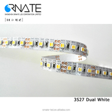 Dual white Color adjustable Temperature LED Strip 5050 3528 ,One Chip Warm White & Cold White,60LED/m flexible light