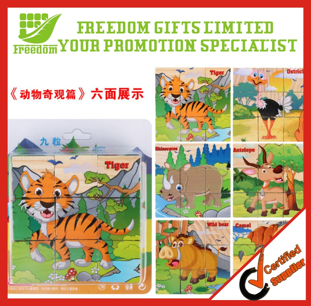 For Promotion Item Printed Wood Cube Puzzle