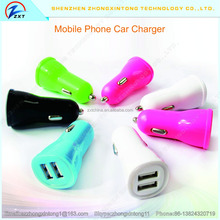 High Quality Micro Auto Universal Dual 2 Port USB Car Charger 3.1A Mini Car Charger Adapter / Cigarette Socket For Mobile Phone