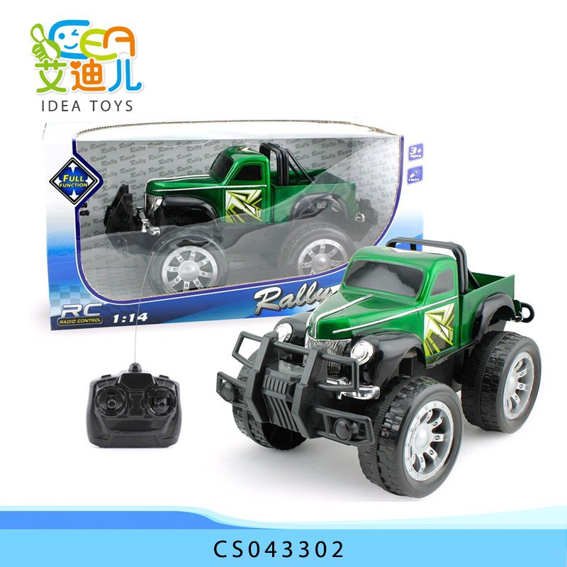 Newest plastic toy 1:14 scale 4 channel radio controlled car