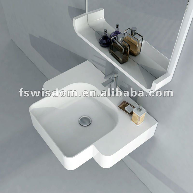 Wall-mount Solid Surface Sanitary Ware China Basins WD38185