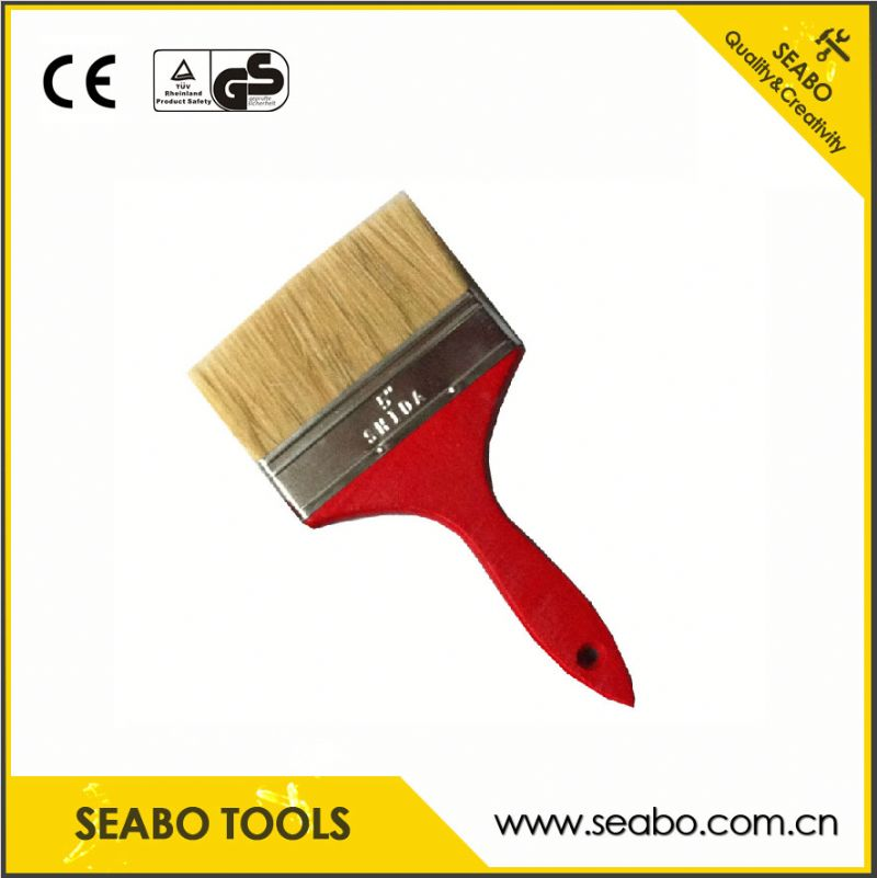 Made in china two times boiled bristle paint brush with high quality