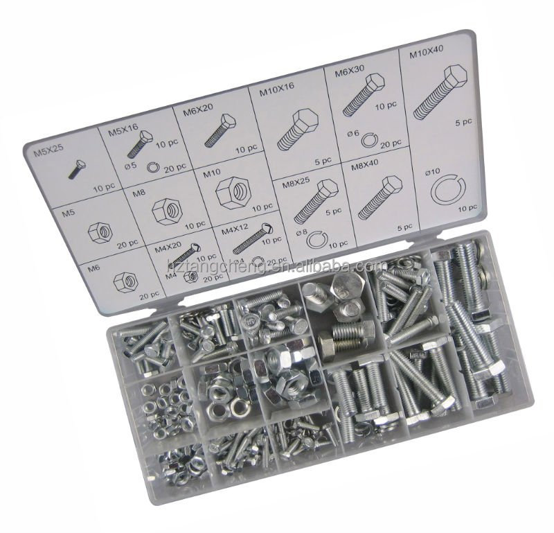 hex head bolts with nuts 240pc hardware assorted kit hex head bolts with nuts
