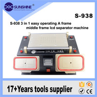 For Samsung iPhone 3 in 1 Multifunction Preheater Station + Bezel Middle Frame Separator Machine + Vacuum LCD Screen Separator