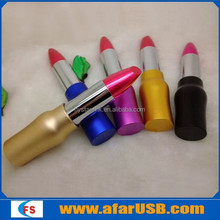 Vogue Lipstick USB flash drive for female promotional gift, Lipstick shaped usb flash drive with logo for Valentine's Day