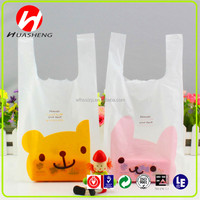 recycled PE plastic promotion/shopping t-shirt bags