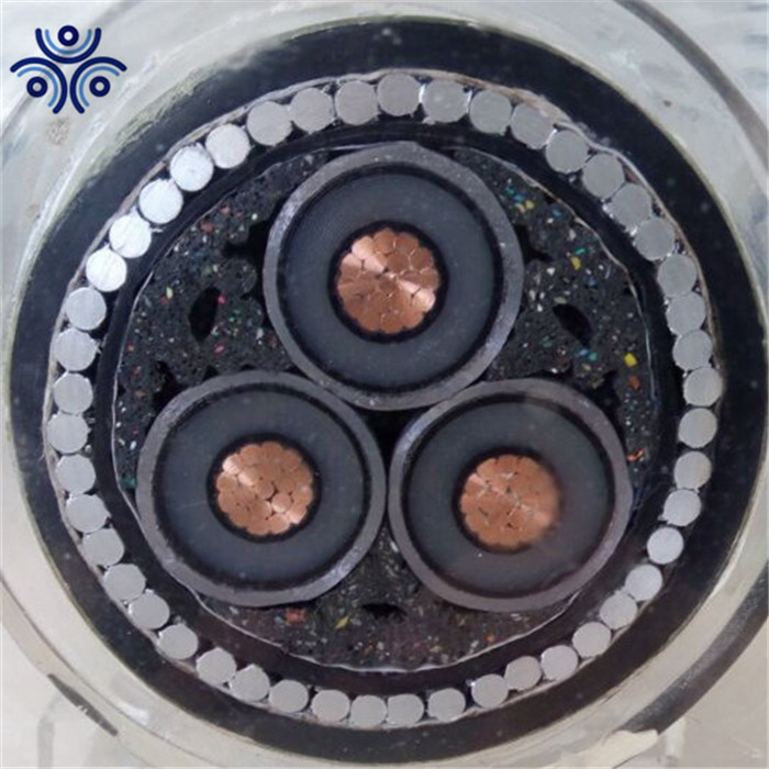 xlpe electric power cable 25kv copper conductor underground high voltage power cable