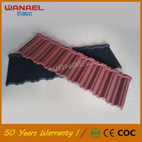 Corrugated roofing sheet Wanael Traditional Cheap Coffee Brown Roof Tiles Guangzhou