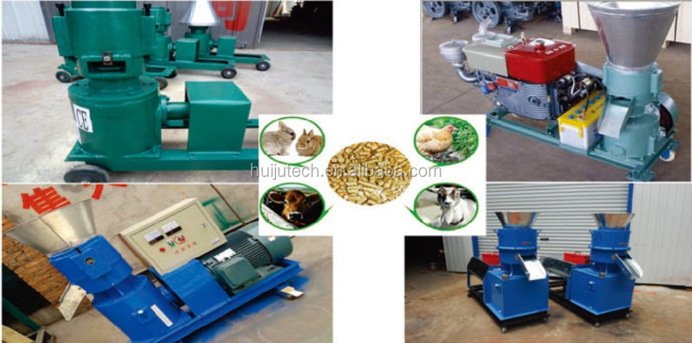 80-100kg/h automatic poultry feed pellet mill HJ-N120C