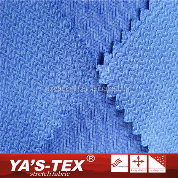 Fashion Design Breathable Polyester Jacquard Stretch Recycled Textile Fabric For Outdoor Sportswear