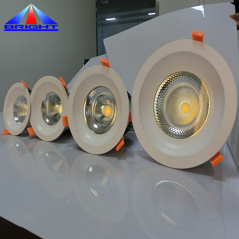Aluminium cob led downlight 6 inch CE ROHS cul energy star round led dimmable downlight