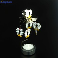 Christmas angels decorative Rotary Candle Holder