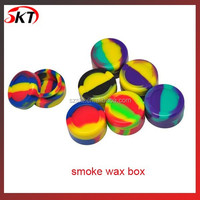 Silicone smoke wax box for e cig smoking accessory mixed colors silicone wax container,silicone wax jars