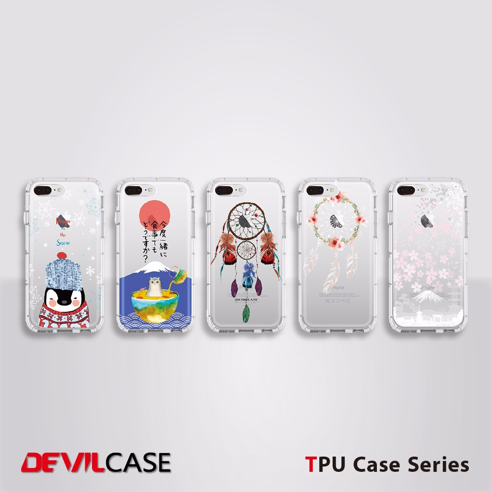 DEVILCASE Anti-Impact TPU Cell Phone Case For iPhone For Android