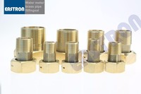 "High Quality Water Meter Brass Couplings and Nuts, 1/2"" 3/4"" 1"" 11/2"" 2"" Costumed, Water Meter Connector,"