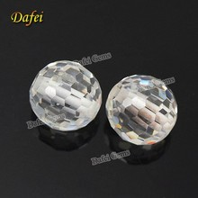 12.0mm Football Facets Drilled Synthetic Cubic Zircon Stone
