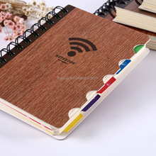 Hard cover spiral notebook with colored paper, spiral notebook with color pages dividers