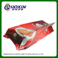 aluminum foil side gusset coffee bag with one way degassing valve