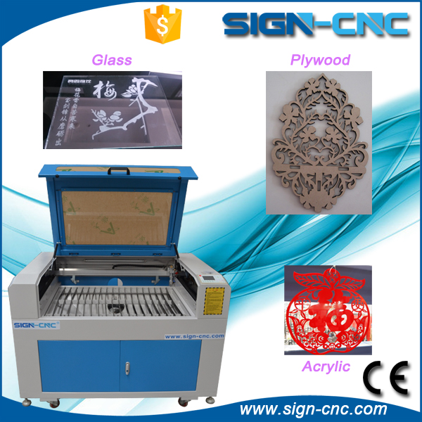 9060 mini co2 laser engraving machine for glass cups/pen box surface engraving