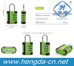 YH9102 Tourist Outdoor Travel Essential Safe TSA Suitcase Combination Lock Travel Luggage Padlock