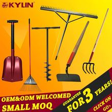 Good Quality Farming Handle Rake Carbon Steel Garden Lawn Rake
