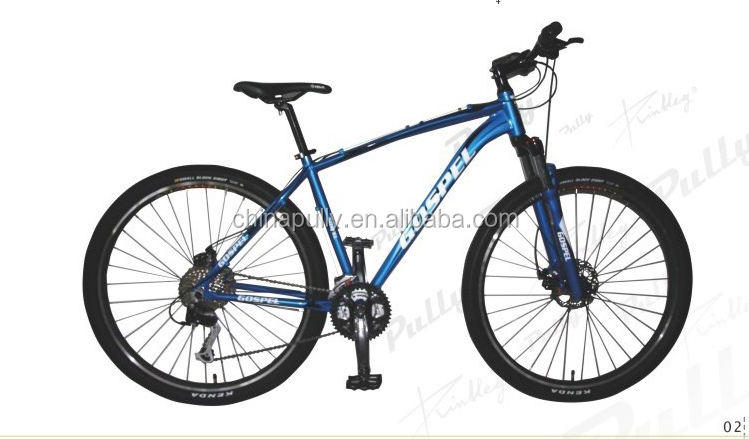 2014 hot sell 29 inch fork suspension 30 speed alloy mountain bike