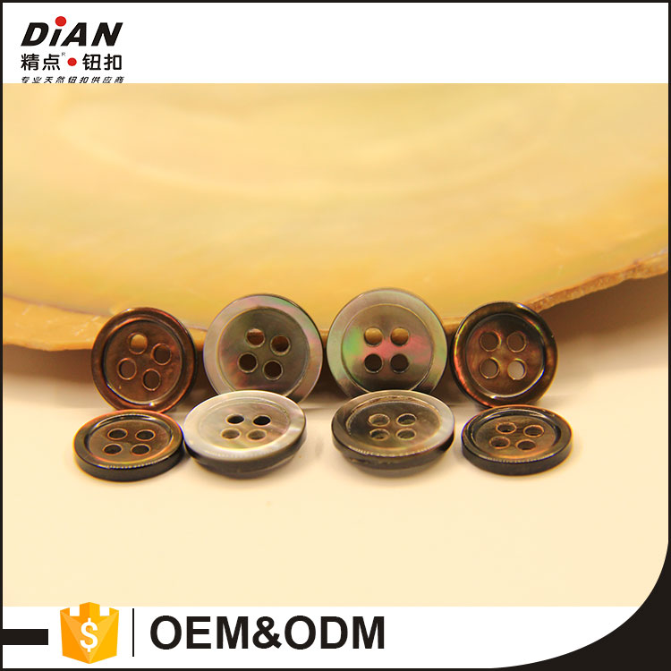 DIAN Natural Real Black Mother of Peal Shell Buttons