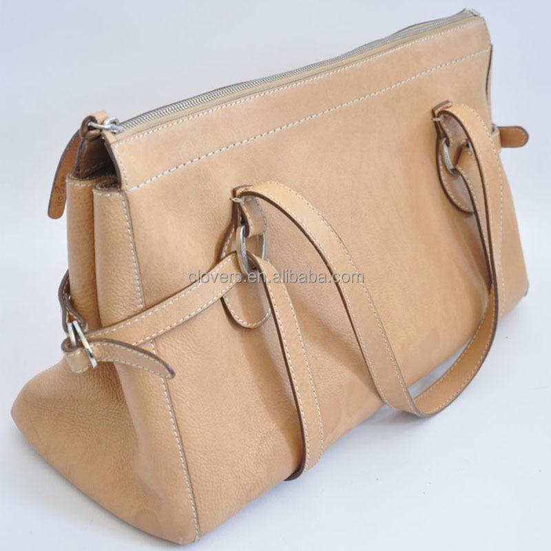 natural Leather Large Shoulder Bag Purse Tote