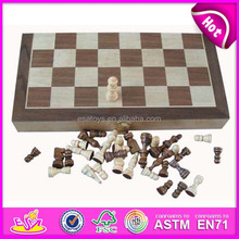 2015 hot sale children wooden chess pieces,high quality wooden chess game for kids WJ277101