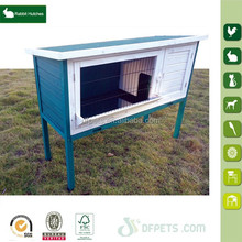 Large Outdoor Rabbit Hutch House Cage Elevated Easy Clean Animal Bunnies DFR037GW
