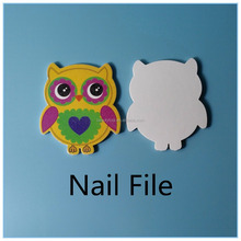 Owl shape 2 side Disposable Nail File Manicure Pedicure EVA Foam Emery Board