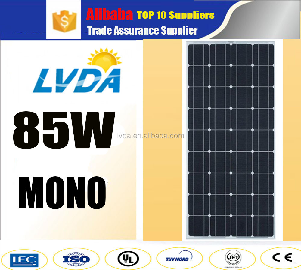 25 years warranty mono solar panel 80w 85w 90w solar module pv panel mono 36 cells pakistan hot selling products anti -water