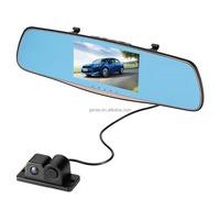 car rearview mirror camera car dvr radar detector full HD 1080p 5 inch with car Reversing Parking Sensor rear view Camera