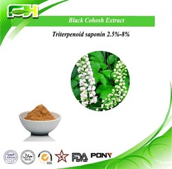 Factory supply 2.5% Triterpene Glycosides Powder,Black cohosh root Extract