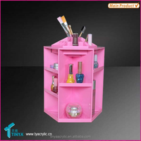 SPINS easy access Beautiful Pink Desktop cosmetic Organizer wholesales