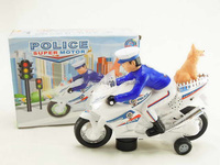B/O Kids toys scale mode electric police motorcycle WITH LIGHT AND MUSIC