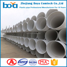 pvc white building drainage pipe 200mm