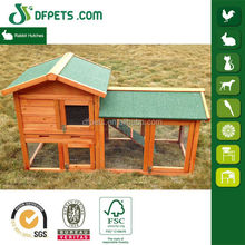 DFPets DFR1204 Wooden Outdoor Ferret Cage With Asphalt Roof