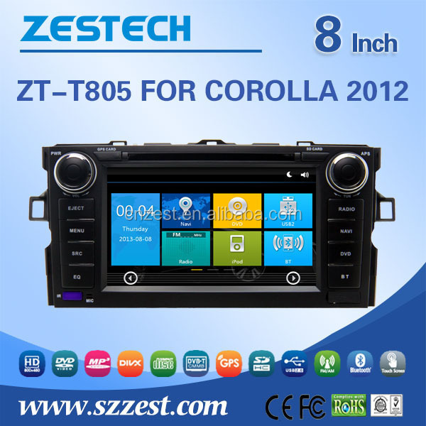 HD digital screen android media player for Toyota Corolla 2012 CAR DVD PLAYER with navigation gps