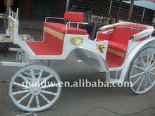 Victorian wedding horse cart with soft pads seats