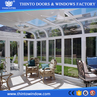 Low price promotional high-level aluminum profile glass sun room