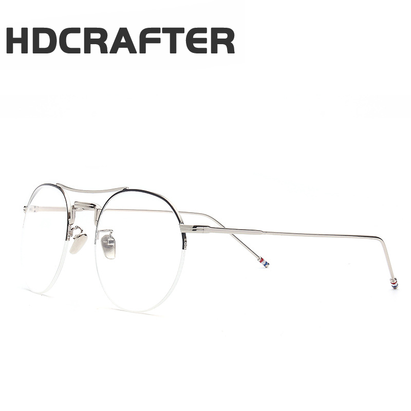 HDCRAFTER men women flat glasses male female new model eyewear frame glasses professionaloptical glasses