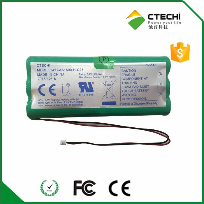 ni mh aa 1500mah rechargeable battery pack 8.4v