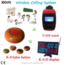 KOQI Wireless Waiter Wrist Pager Buzzer Call Service Calling System hospital restaurant equipment Wireless Calling button System