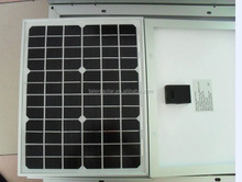 15 w monocrystalline silicon solar panels on the 12 v battery
