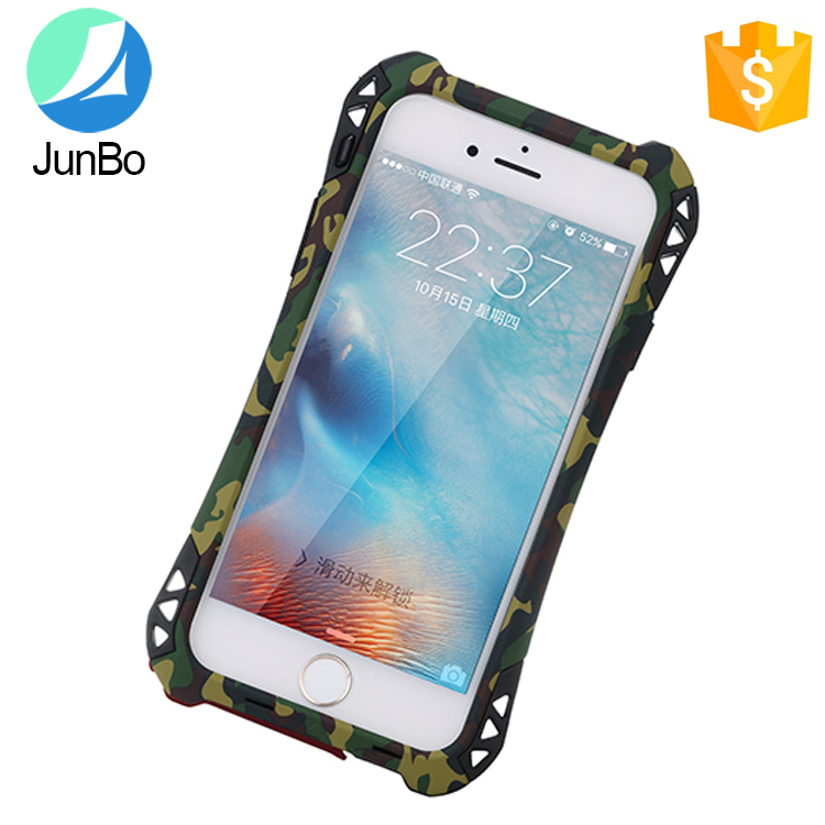 Camouflage Series shockproof drop resistance dust-proof mobile phone case waterproof metal silicone cover for iPhone 6