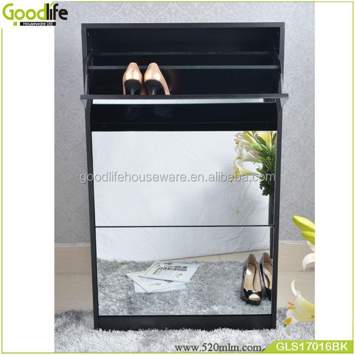 GLS17016mirror shoe cabinet-1