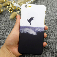 High quality birds design imd hard plastic case for iphone 6 matte pc mobile phone cover for iphone 7 plus case