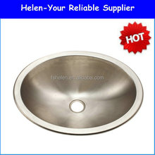 Round Bowl Stainless Steel Kitchen Sink Above Counter Sink No.4237