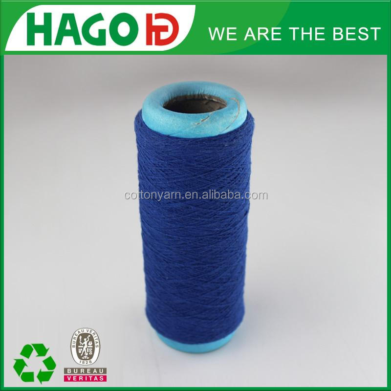 Blended recycled open end denim yarn cotton waste buyers stock-lot in korea